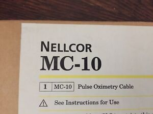 Nellcor Mc 10 Pulse Oximetry Cable