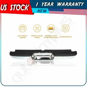 New Chrome Complete Rear Steel Bumper For Toyota Tacoma Pickup 1995 2004
