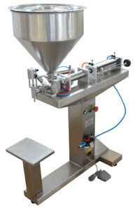 110v 5 100ml Liquid Paste Filling Machine Bottle Filler With Stand Single Nozzle