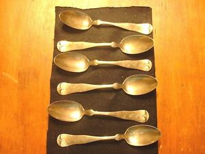 6 Antique Towle Sterling Teaspoons Marked