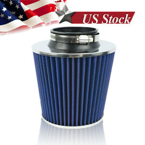 3 To 4 Round Tapered Universal Air Intake Cone Filter Chrome Truck Car Suv