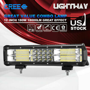 20 Inch Cree Led Light Bar Triple Row Combo Beam Work Driving Light Offroad 4wd
