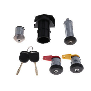 Set Of Car Ignition Switch Lock Cylinder Door Lock For Ford Old Carnival