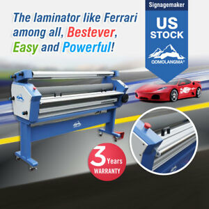 Usa 110v 63 Full auto Low Temp Wide Cold Laminator Laminating Heat Assisted