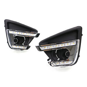 Fit For Mazda Cx 5 15 16 Auto Led White yellow Lamp Bead Daytime Running Light