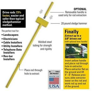 Ground Rod Driver With Extractor Also Drives Rebar
