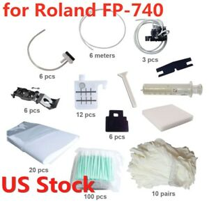 Usa Stock Maintenance Kit For Roland Fp 740 Gloves Blades Ink Pumps Adapters