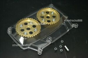 Clear Timing Cover Cam Gear Pulley Camshaft Levin Ae86 Corrolla Mr2 Mk1 4age 16v