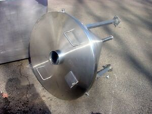 36 X 30 Polished Stainless Steel Cone Tank With Screen