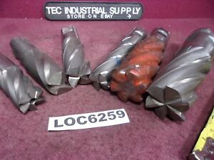 Lot Of 6 Large Hss End Mills 2 4 6 Flute Used Loc6259