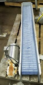 Stainless Steel 65 l X 8w Conveyor With Plastic Belt