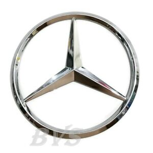 New For Mercedes Benz Chrome Star Trunk Emblem Badge 90mm Sticker