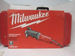 Milwaukee 1680 20 Super Hawg Heavy Duty Corded Drill Right Angle 23f