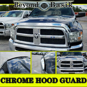 For 2010 2018 Dodge Ram 2500 3500 Oe Mpr Chrome Bug Shield Deflector Hood Guard