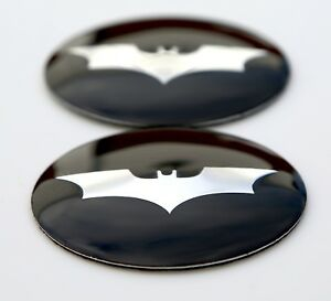 2x 3d Metal Batman Sticker Decal Emblem 2 2 56mm Dome Shape