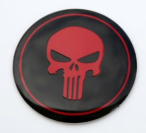 Metal Dome Red Punisher Skull Sticker Decal Emblem 2 2 3d Feel
