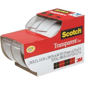 Scotch Transparent Tape 3 4 X 250 2 Rolls 2157ss This Is A Test Listing