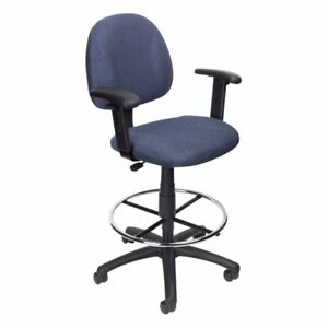 Boss B1616 Drafting Stool With Footring And Adjustable Arms