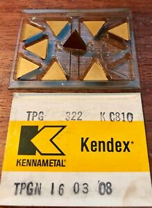 Kennametal Carbide Inserts Tpg 322 Kc810 Tpgn 16 03 08 Qty 9 New In Box