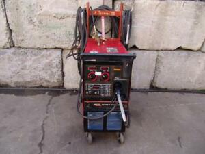Lincoln Power Mig 350 Mp Wire Feed Welder Single Phase Works Great 4
