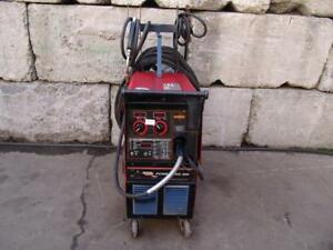 Lincoln Power Mig 300 Wire Feed Welder Single Phase Works Great 2