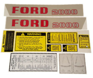 Ford new Holland 2000 Series 4 Cyl 62 64 Select o speed Ford Complete Decal Kit