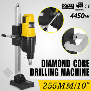 10 Diamond Core Drill Concrete Drilling Machine With Stand Press Drilling 2600w