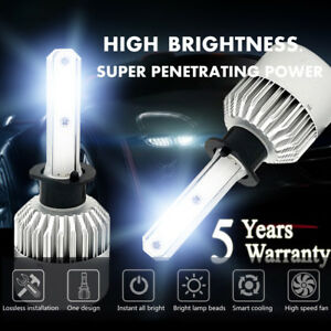 H1 1950w 292500lm Cree Led Headlight Kit High Or Low Beam Bulb Xenon 6000k Power