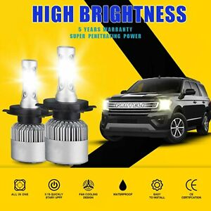 H4 9003 1500w 225000lm Cree Led Conversion Headlight Kit Hi low Beam 6000k White