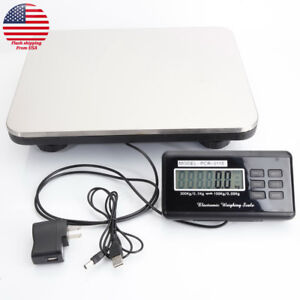 660lbs Lcd Display Digital Postal Scale Floor Bench Scale 300kg 100g Usa Ship
