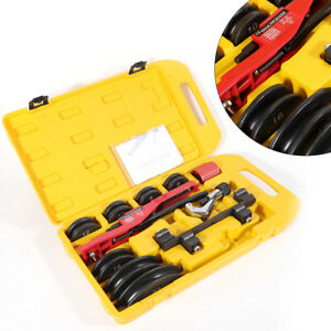 Manual Pipe Tube Bender Tool Kit 1 4 7 8 7 Dies For Copper stainless Steel Ups