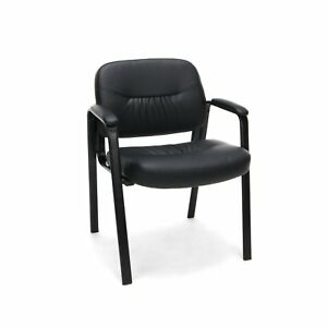 Essentials Leather Executive Side Chair Guest reception Chair Black