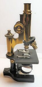 Antique Vintage Brass Bausch Lomb Microscope 1909