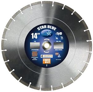 Diamond Products Core Cut 70520 14 inch By 0 125 By 1 inch Star Blue Dry Or Wet