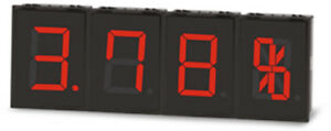 Autonics Ds60 rt Display W33 6 X H60mm Led Red 7 segment