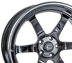 Cosmis Racing Xt006r 20x11 5 5x120 Black Chrome set Of 4