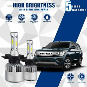 Cree Cob H4 Hb2 9003 1950w 292500lm Led Headlight Kit Hi lo Power Bulbs 6000k