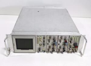 Tektronix 7613 Oscilloscope W Dual Trace Amplifier 7a18 And 7a18a 7b53a