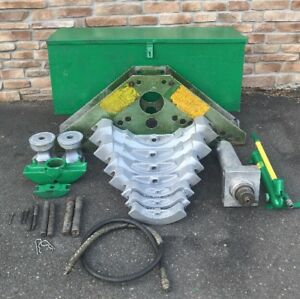 Greenlee 884 1 25 4 Hydraulic Pipe Bender 755 Hand Pump nice Set 1 885
