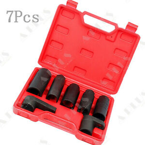 7piece 1 2 3 8 7 8 22mm 27mm 29mm Oxygen O2 Sensor Wrenches Socket Tool Kit