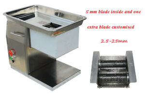110v Qx Meat Cutter Slicer With 5mm Blade 250kg h And One More Blade 2 5 25mm
