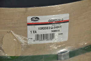 Gates Qd V belt Sheave Qd6d22 0 Detachable 6 Groove Nos