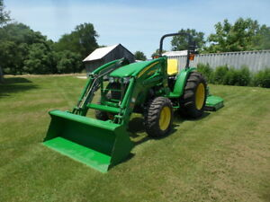 John Deere 4105 4wd Ldr And Frontier Rc2072 Brushog 2016 W 41 Hrs Mint