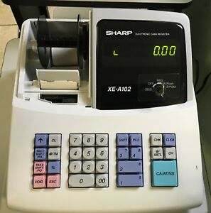 Sharp Xe a102 Cash Register With Key No Drawer