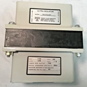 Topaz Electronics Ultra isolator 1 Kva Model 0111t25st Input 120 V Output 120 V