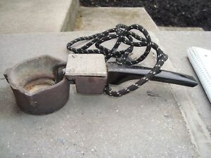 Electric Cast Iron Lead Melter Pewter Casting Mold  Pot