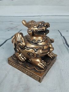 Chinese Foo Dog Lion Dragon Figure Statue