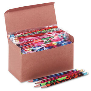 Wood Pencil Assortment 144 Count Assorted Lead Eraser Number 2 Home School Write