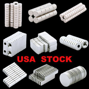 Us 5 100pcs Strong N35 Magnets Rare Earth Block round ring Industrial Machinery