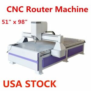 Us 51 X 98 1325 Ad Woodworking Cnc Router Engraving Machine 3kw Spindle